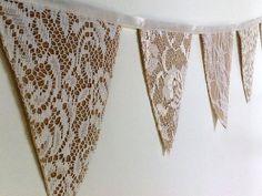 4 meter Mini Triangle Hessian Burlap Bunting от weddingdesire