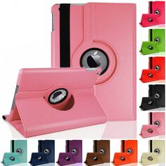 2pcs/lot!Luxury 360 Rotating Flip Stand Leather Case Cover for Apple iPad 2 3 4 Protector Skin Cases for iPad 2 tablet bags