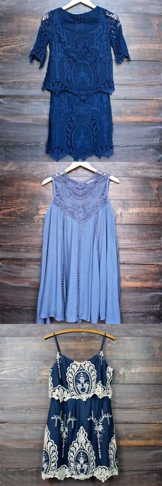 Get excited! Our best selling dresses are coming back in stock!   Sign up for a one-time e-notification on http://www.shophearts.com  Styles: cara dress by saylor, blue boho crochet lace dress, and a hint of vintage.