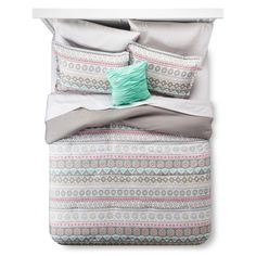 Global Stripe Queen Comforter Set Queen Gray - Xhilaration