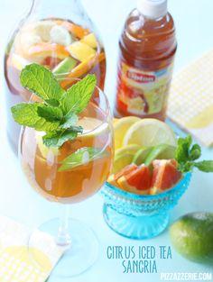 Citrus Iced Tea Sangria - made with Lipton's Half Tea and Half Lemonade!