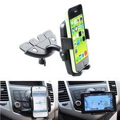 360°Car Universal CD Mount Slot Holder Cradle For Mobile Smart Cell Phone GPS