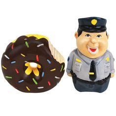 Marvelous New Collectible Novelty Bad Cop No Donut Police Officer Salt Pepper Shaker  Set | EBay Salt