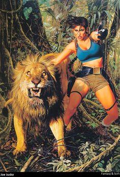 Lara Croft by Joe Jusko
