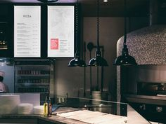 A division of UnderConsideration, cataloguing the underrated creativity of menus from around the world. Digital Menu Boards, Digital Board, Digital Signage, Restaurant Branding, Restaurant Design, Restaurant Bar, Collateral Design, Environmental Graphic Design, Bar Menu