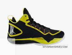 a79be9539128 Jordan Super.Fly 2 PO Mens Shoes Black Vibrant Yellow Infrared 23 White  645058-070 Authentic
