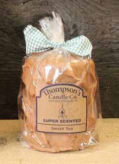 Prim Country Sweet Tea Medium Pillar, Handmade in the USA, Super Scented, 80 hr #CountryCandles #Primitives