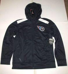 59bdf9ec2 Nike Tennessee Titans Shield FZ Hoodie Jacket Mens M Navy 542813 419  Nike   TennesseeTitans