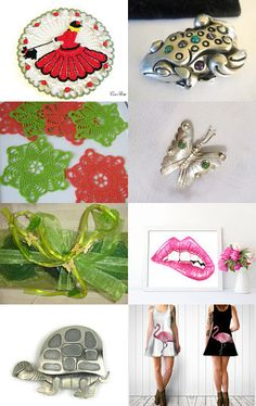 Silver, Red, and Green Gift Items - Vjt-Teamlove-GVS team by Helen Tidwell on Etsy--Pinned with TreasuryPin.com