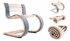 Miesrolo – A cadeira rolô de madeira