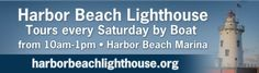 The Harbor Beach Lighthouse is open for tours on Saturdays this summer. It's pretty neat tour as it includes a boat ride out to it. For more info go to http://www.bluewater.org/directory/harbor-beach-lighthouse/
