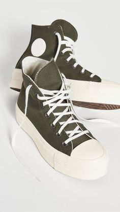 26 Stylish Things for Heading Back-to-School This Semester   Who What Wear Signature Logo, Chuck Taylors, Converse Chuck Taylor, Vietnam, High Top Sneakers, Lace Up, Heels, Platform, Profile
