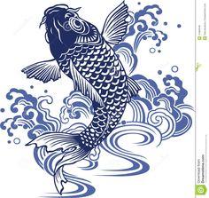 Carpe Japonaise Illustration de Vecteur - Image: 41892648