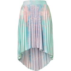 Earth Printed Dip Back Skirt ($30) ❤ liked on Polyvore featuring skirts, bottoms, saias, faldas, multi, hi low skirt, pleated high low skirt, high low skirt, hi lo skirt and mullet skirt