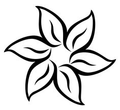 drawing easy flower drawings simple sketches hawaiian flowers amazing cool clip google floral tutorials