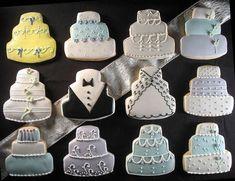 wedding cake cookie ideas