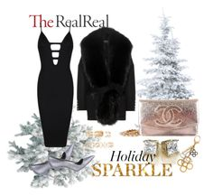 """""""Holiday Sparkle With The RealReal: Contest Entry"""" by mediasky ❤ liked on Polyvore featuring Manolo Blahnik, Chanel, Posh Girl, Balmain, Louis Vuitton and Forever 21"""