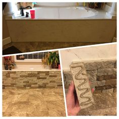 Bathtub Re Do. Airstone, Adhesive And Time! Super Easy!