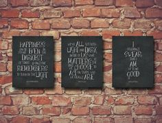 Set of 3 Inspirational School Classroom Harry Potter Quotes