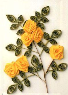другие розы квиллинг