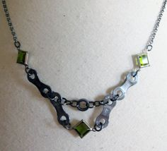 Upcycled Bike Chain Necklace by WarbleswithBella