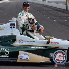 Top Dawgs. Ed Carpenter wins the 2014 pole with the Bulldog logo on his car.   Photo Credit: @Ida Oden Strom