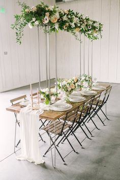 Dine under a flower canopy.
