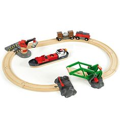 BRIO® Bahn 33061 - BRIO Container Hafen Set, 16 Teile: Amazon.de: Spielzeug