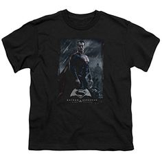 Super Poster Black Kids T-Shirt Batman V Superman Dawn of Justice @ niftywarehouse.com #NiftyWarehouse #Superman #DC #Comics #ComicBooks