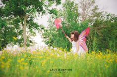 Lacy Hampton Photography  #ChildPhotography #TexasPhotographer  Little girl butterfly photoshoot