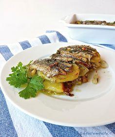 Tortino di alici con patate e finocchi