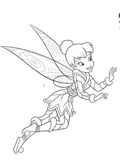 Tinker Bell A Winter Story Online Coloring Pages Printable Book For Kids