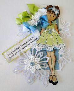 Prima Paper Doll Tag - Scrapbook.com