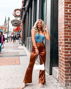 SHEIN Zipper Fly Flare Leg Satin … curated on LTK Nashville Trip, Flare, Jumpsuit, Satin, Zipper, Legs, Shopping, Dresses, Fashion