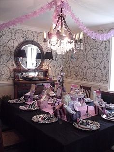 "My daughters 9th Birthday ""Paris Theme.""  Being that I am a complete Francophile - this was too much fun!"