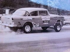 """Underdog"" D/Gas 1955 Chevy Vintage Drag Racing"