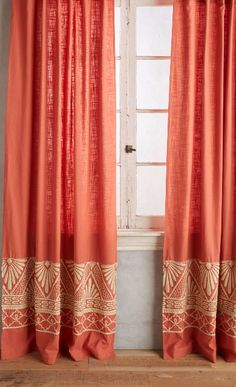 Embroidered Edge Curtain