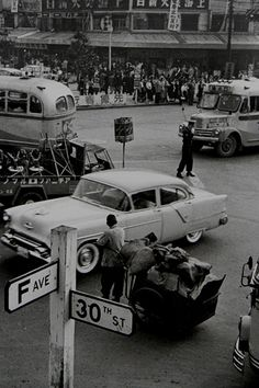昭和31年(1956)渋谷駅前 。