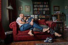 A photo of a gay couple cuddling on a couch has taken out the Love in London charity photography contest, a challenge to depict love in an inspiring photo. Gay Cuddles, Snuggles, Cuddling, Photography Exhibition, London Photography, Salsa Lessons, Scott Hamilton, British Journal Of Photography, Elephant And Castle