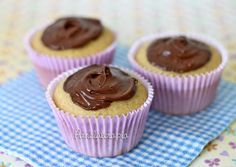 Cupcake de Amendoim com Nutella ~ PANELATERAPIA - Blog de Culinária, Gastronomia e Receitas