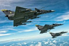 Colombian Air Force IAI Kfir C.10 Block 60s in formation