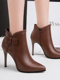 Pointed High Heel Martin Ankle Boots Nightclub Booties #Highheelboots