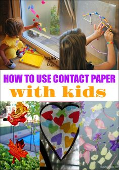48 Best Contact Paper Crafts Images Preschool Crafts Toddler
