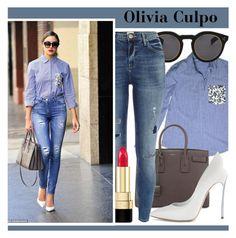 """712. Celebrity Style: Olivia Culpo"" by zaandupreez ❤ liked on Polyvore featuring moda, Illesteva, Yves Saint Laurent, River Island, Dolce&Gabbana, Casadei, saintlaurent, thakoon y oliviaculpo"