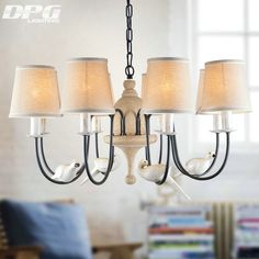 Find More Chandeliers Information about Modern Iron White bird chandelier home lighting with chandelier lampshade China for bedroom living room lamp light,High Quality Chandeliers from DPG Lighting on Aliexpress.com