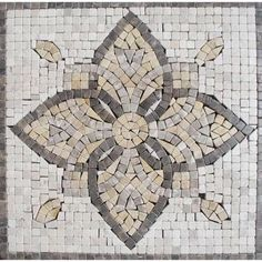 MS International Floral Blend Medallion 12 in. x 12 in. Tumbled Marble Mesh Mounted Mosaic Tile-SMOT-MED-MA3-1212 at The Home Depot