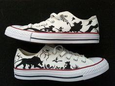 Círculo de Rey León de Disney de mano vida orgullo Rock personalizado pintado zapatos arte y zapatos incluidos