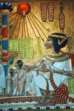 Queen Nefertiti Tomb--- Where these culture bandits get the red, white and blue from. Ancient Egyptian Art, Ancient Aliens, Ancient History, Egyptian Things, Old Egypt, Egypt Art, Queen Nefertiti, Kemet Egypt, World History