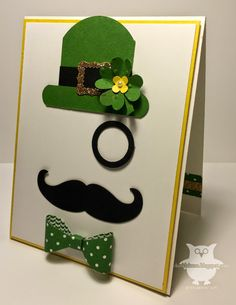 St. Patrick's Day, mustache, bow builder, monacle