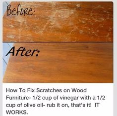 Recipe for reviving wood finish